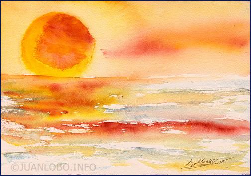 Ich liebe Sonnenuntergänge am Meer. Sie verströmen Freiheit.