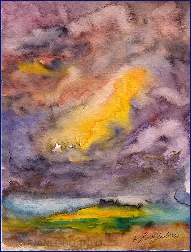 Unwetter über Monte Curiano