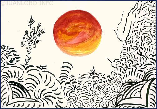 Die Einsamkeit der Sonne am Firmament