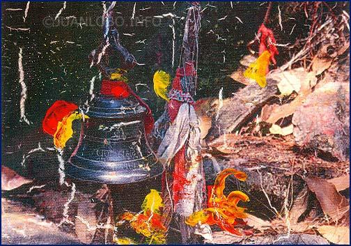 Putschas am Heiligen Abend beim Heiligtum der Waldfee